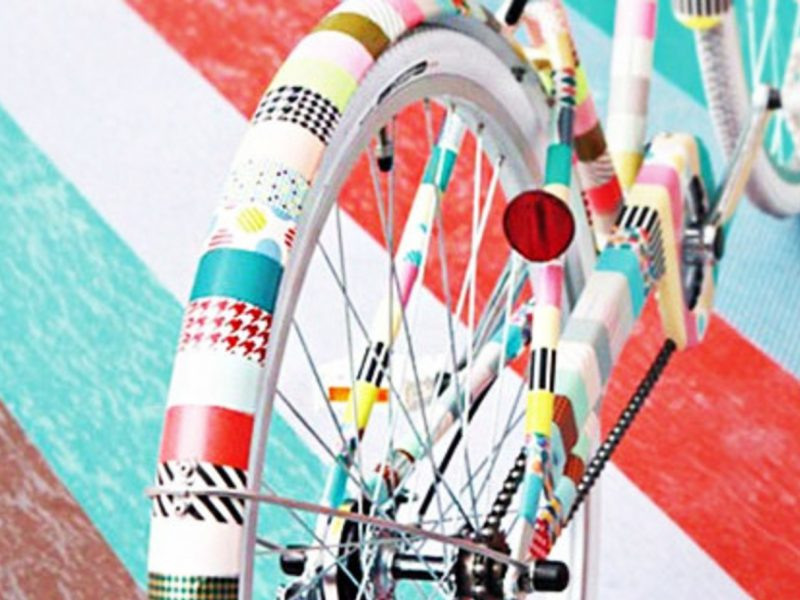 Extra Big Fietspimpen Washi Tape Bike 1
