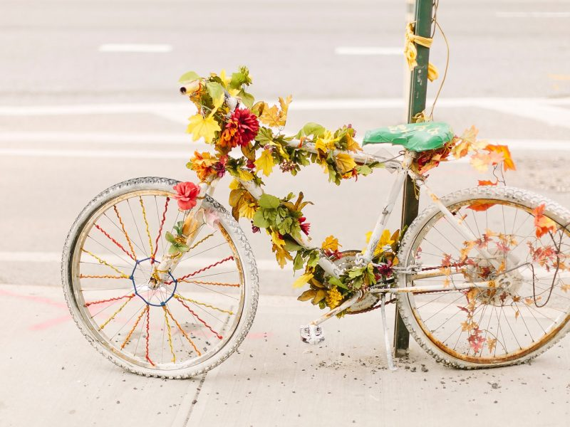 Parked Bicycle With Leaves 2332371